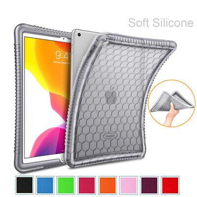 For iPad 10.2'' 7th Gen 2019 Silicone Case Kids Friendly Anti Slip Back -