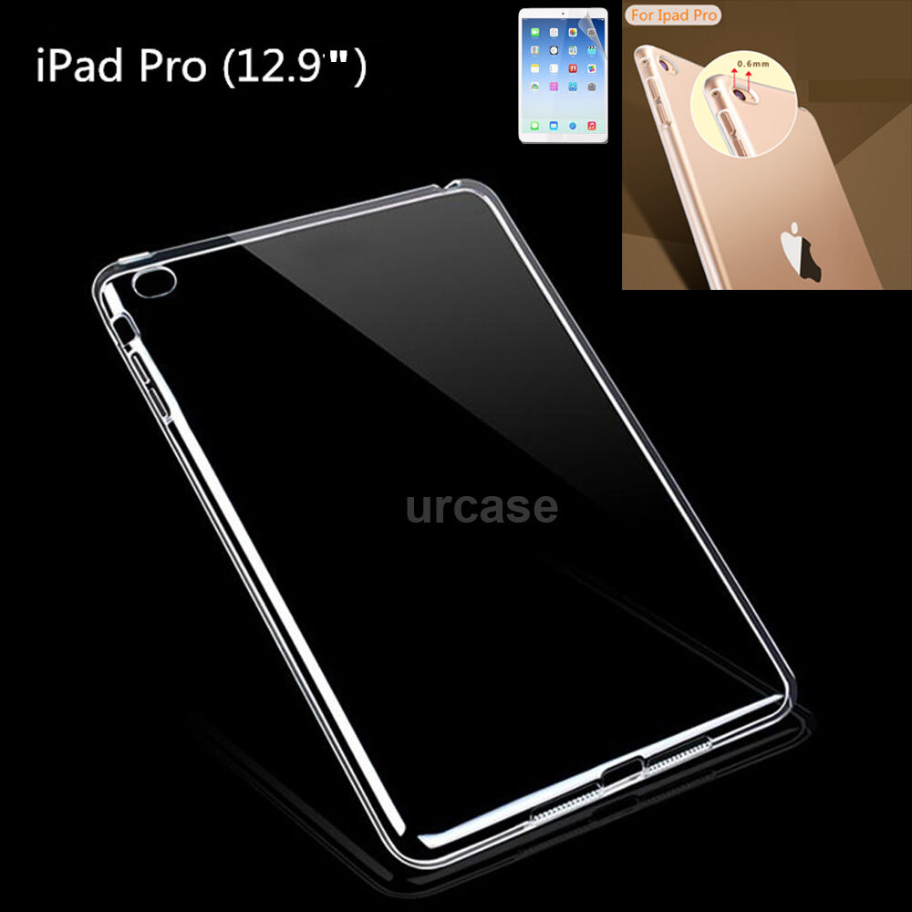 "Ultra Thin Protective Clear TPU Gel Case Cover For Apple iPad Pro 12.9/"" 2016"