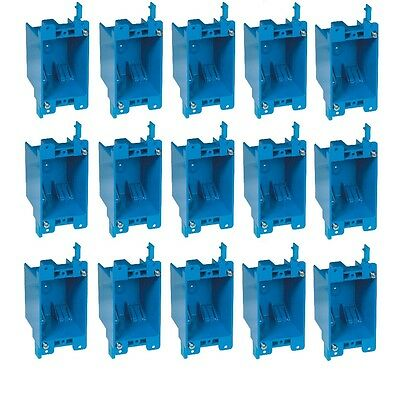 15-pc 14 Single-gang Wall Outlet Switch Old-work Plastic Electrical-box Remodel