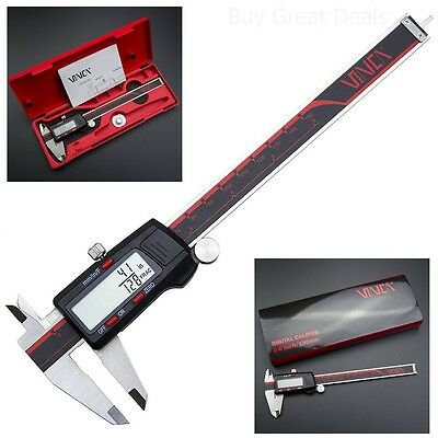Electronic Digital Caliper Lcd Inch Metric Fractions Conversion Measuring Tool