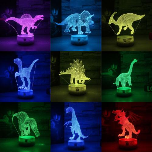 Nuit Jurassique Lampes Détails Lumière Xmas Cadeau Veilleuse Sur 3d Table Dinosaure De Led PXukOZi
