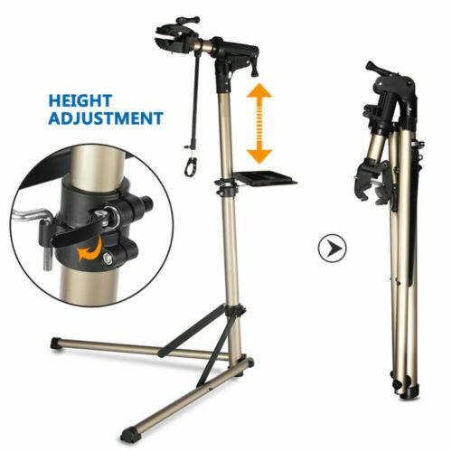 Bike Repair Work Stand Telescopic Arm Bicycle Rack Adjustable Holder Foldable