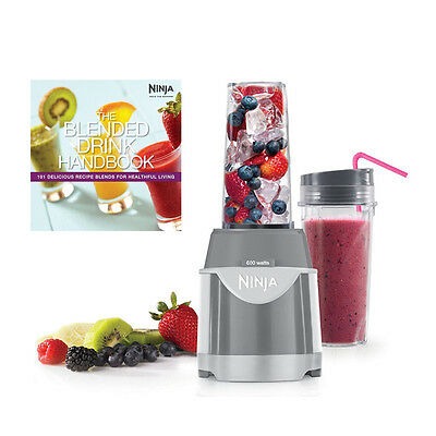 Ninja Professional 600 Watt Single Serve Pulse Blender + Drink Recipe Handbook