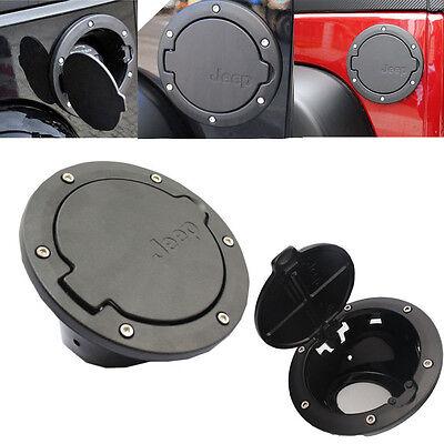 Cover For Jeep Wrangler JK 2/4 Door Aluminum Fuel Filler Door Cover Gas Tank Cap