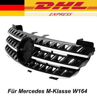 Kühlergrill Frontgrill Schwarz Glanz + Chrom für Mercedes M-Klasse W164 ML NEU