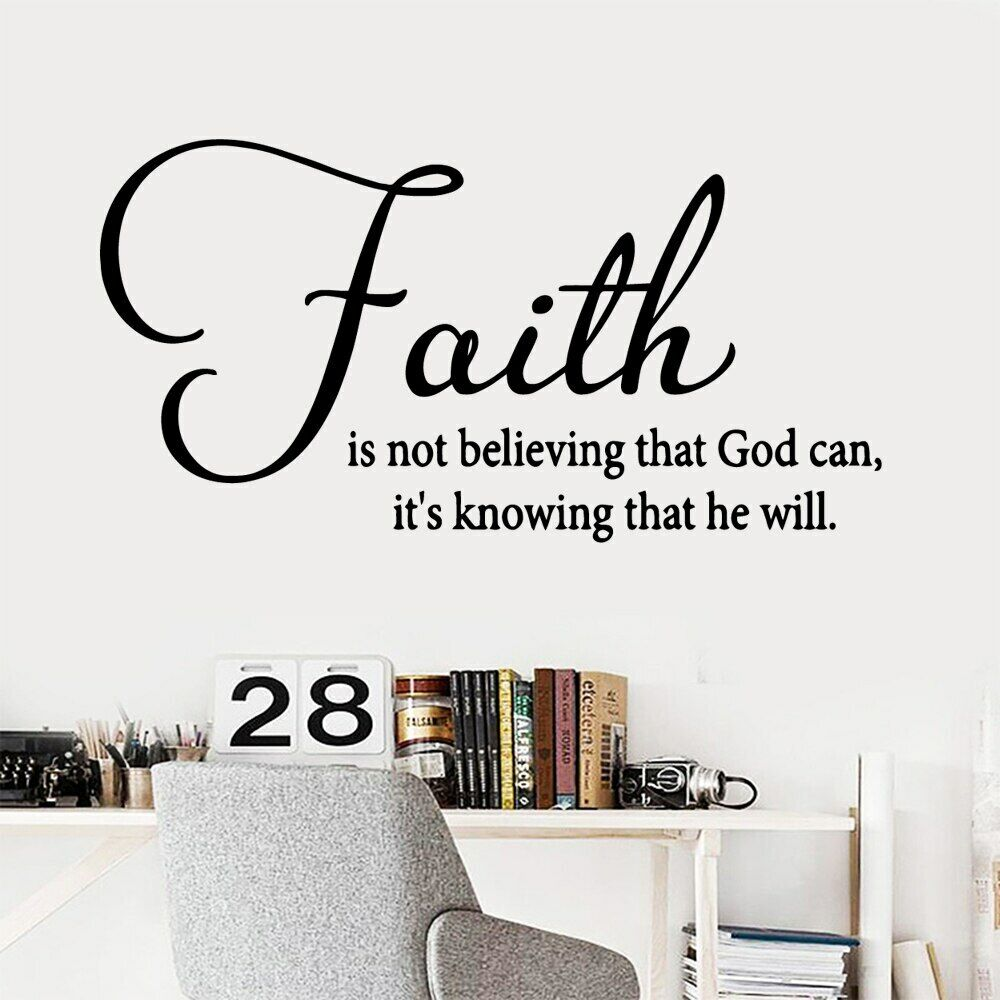 Home Decoration - Diy Quote faith Pvc Wall Decals Home Decor Living Room Children Room