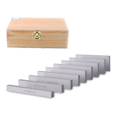 9 Pair Precision Machinist Thin Parallel Jig Block Bar Tool Kit 100x4mm Usa