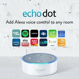Amazon Echo Dot (2nd Generation) - Smart Speaker with Alexa - Black or white, BNIB, 1 yr warranty