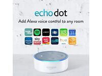 Amazon Echo Dot (2nd Generation) - Smart Speaker with Alexa - Black or white, BNIB, 1 yr warranty