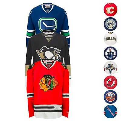 NHL Official Authentic Reebok Premier Team Hockey Jersey Collection Men's Authentic Reebok Nhl Hockey Jersey