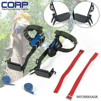 Tree Climbing Spike Set 2 Gears Safety Belt Adjust Lanyard Rope Rescue Belt New