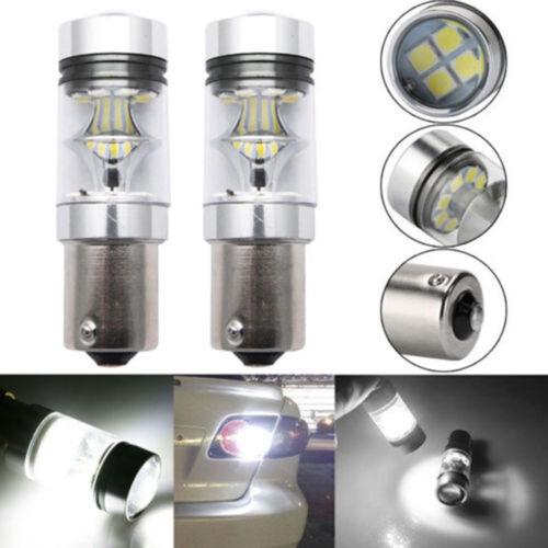 Car Parts - 2x 100W 1156 BA15S 382 P21W Cress XBD LED Stop Reverse Light Canbus Bulb White