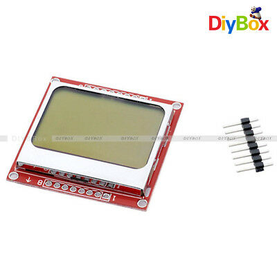12510pcs 84x48 Lcd Pcb Module Blue Backlight Adapter Nokia 5110 For Arduino
