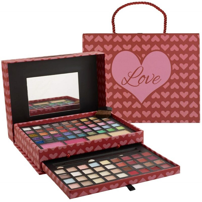 Makeup Kits for Teens 2 Tier Love Make Up Gift Set, Eyeshadow Palette