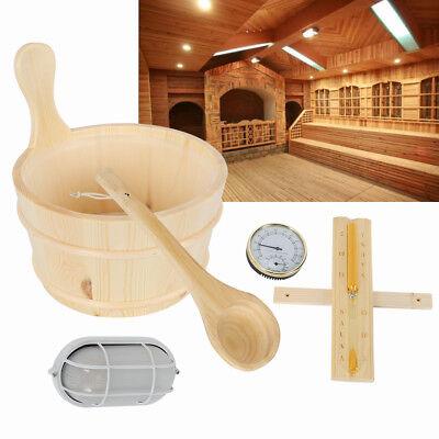 Spoon Lamp (5Pcs Spa Sauna Accessories Kit Barrel Wood Dry Steam)