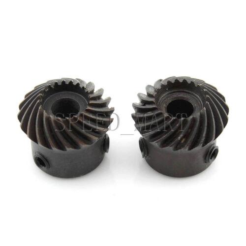 2pcs 1M20T Metal Umbrella Spiral Bevel Gear Helical Motor Gear 20Tooth 6mm Bore