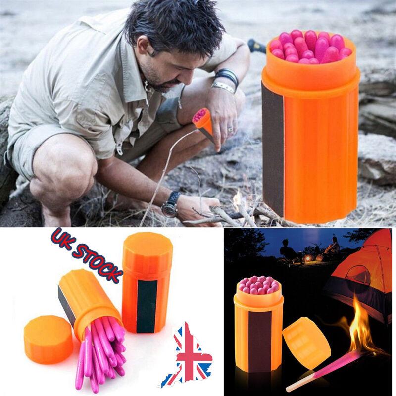 20x Outdoor Windproof Waterproof Emergency Survival Lighter Kit Gear Matches