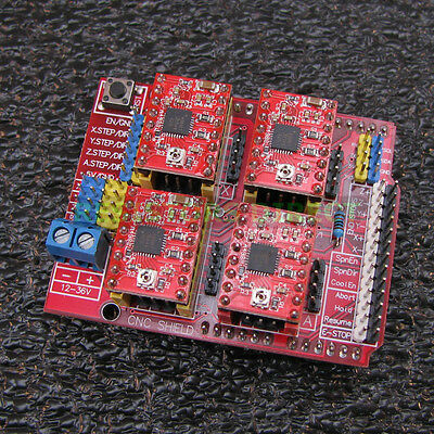 Assembeled Cnc Shield Expansion Board V3 4pcs A4988 2a Driver Module Arduino W37