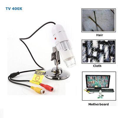 400x Avtv Port Multi-purpos Digital Microscope Magnifier With 8-led Light