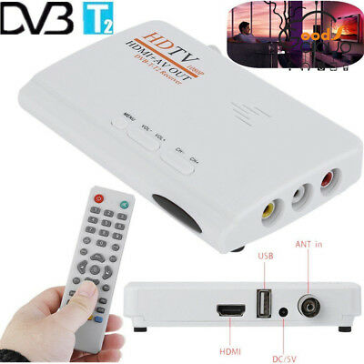 HDMI 1080P Without VGA Version DVB-T2 TV Box CVBS Tuner Receiver Remote Control Vga Tv Tuner