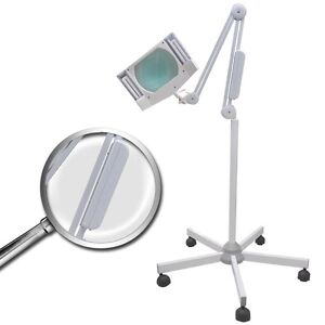 Rolling-Adjustable-5X-Diopter-Magnifying-Lamp-Salon-Facial-Jewelry-Magnifier
