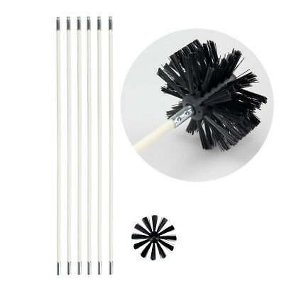 Dryer Duct Cleaning Kit 12' Clear Clean Flexible Cleaner Remover Vent Lint Brush (Dryer Vent Lint Brush)