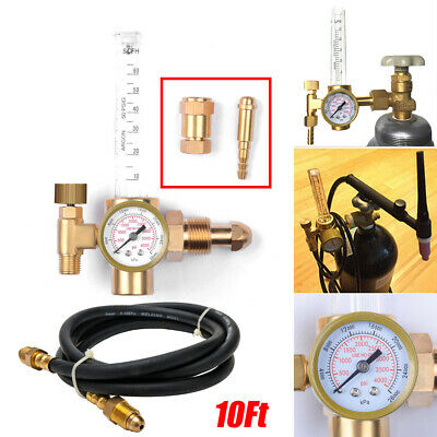 Mig Tig Flow Meter Regulator Argon Co2 Welding Weld Regulator Gauge Gas Hose