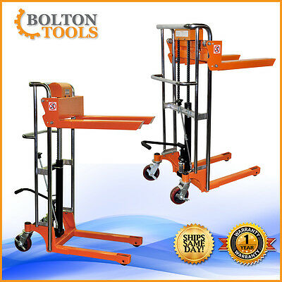 Bolton Tools Pallet Stacker Jack Lift Foot Operated 880 Lb Tf40-11