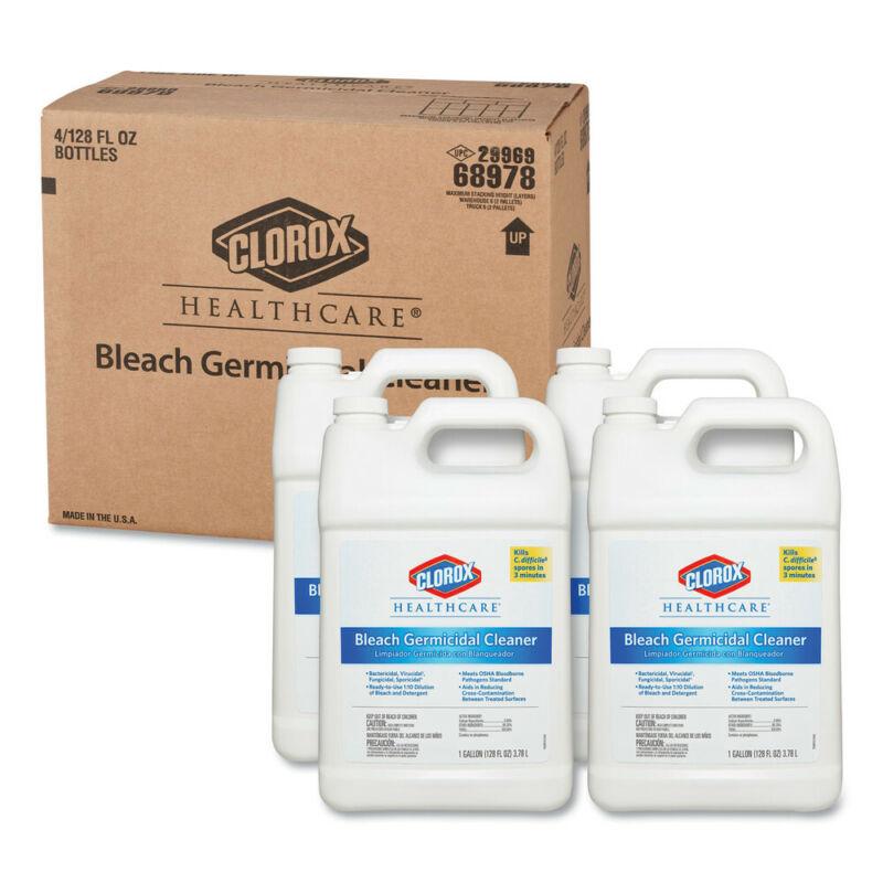 Clorox Healthcare 68978 4/Carton 128 oz. Bleach Germicidal Cleaner Refill New