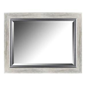 NEW Mirrorize.ca Beveled Mirror with Gradient Frame and Liner Silver Leaf 27.25-Inch by 35.25Inch Inner Mirror 20Inch...