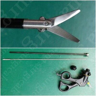 Laparoscopic Curved Scissors Forceps Laparoscopy Instruments 5x330mm