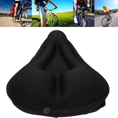 Comfortable Saddle Seat Extra Gel Pad Cushion Cover for Bike Bicycle Cycle Comfy