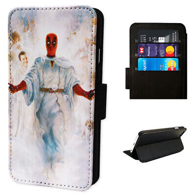 Deadpool Angel - Flip Phone Case Wallet Cover - Fits Iphones & Samsung