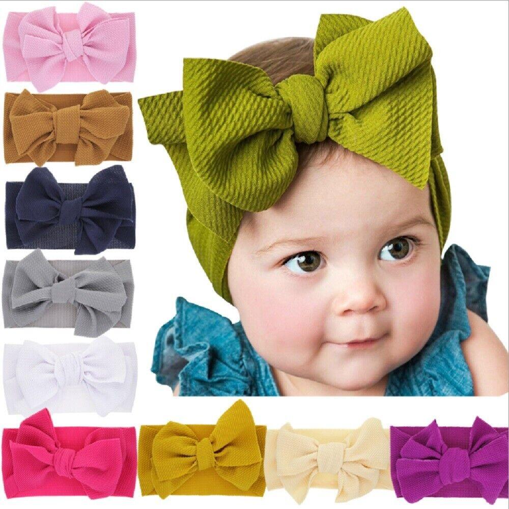 5 Pcs Kids Headband Floral Bowknot Girls Elastic Cute Hair Band Baby Headdress