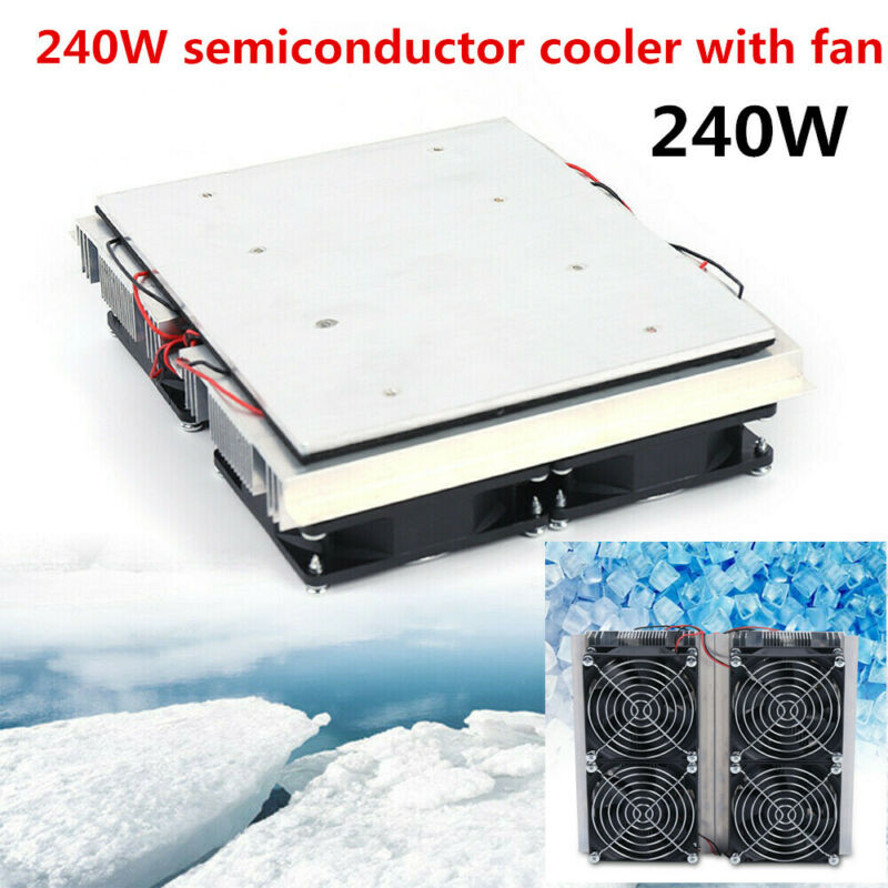 240W Plate Cooler Semiconductor Refrigeration Peltier Cold Cooling Fan Tool Kit