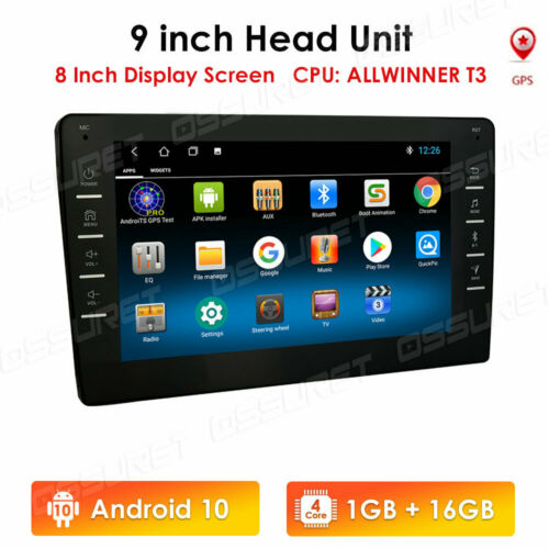 """9"""" Android9.1 Car Stereo GPS Navi MP5 Player Double 2Din WiFi BT Quad Core Radio"""