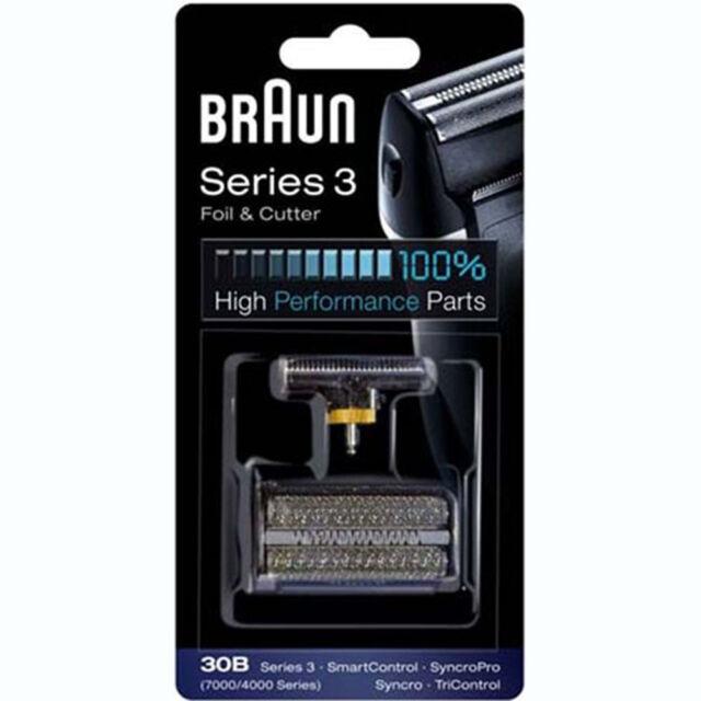 BRAUN 30B 7000/4000 Series Mens Shaver Foil + Cutter Set Head Replacement