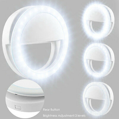 Portable Selfie LED Light Ring Fill Camera Flash For Mobile Phone iPhone - Light Rings