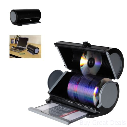 Disc Manager 80 Disc Storage Organizer Holder Protection CD DVD Movies Black