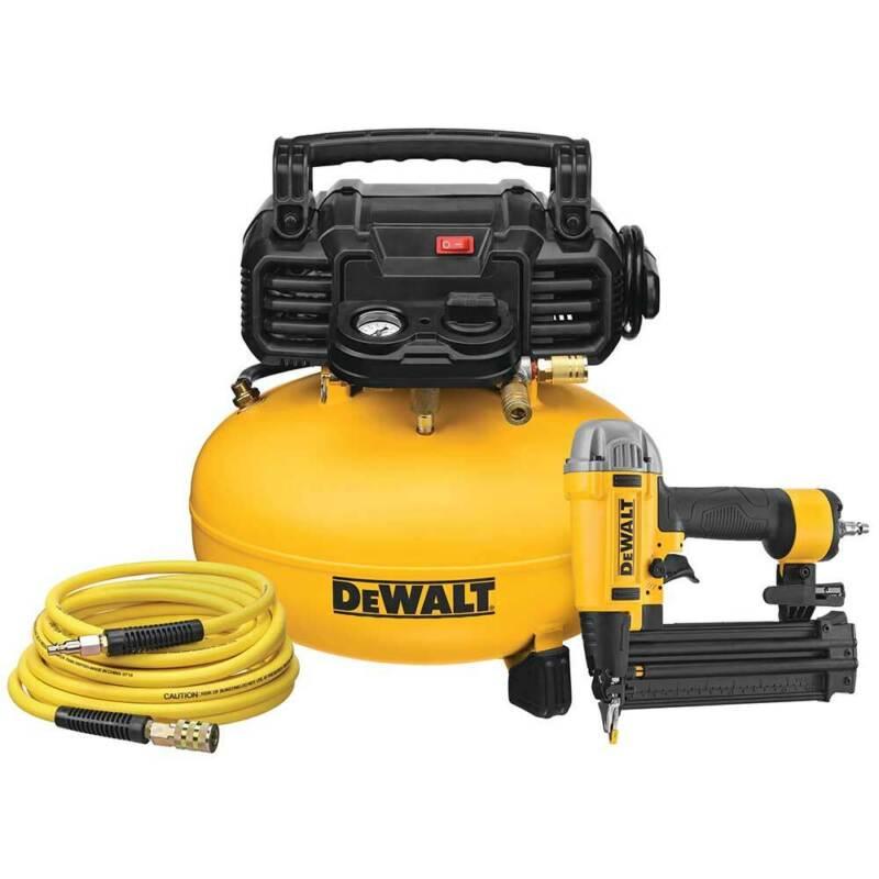 "DeWALT DWFP1KIT 165 PSI 18 Gauge 2-1/8"" Pneumatic Nailer w/Compressor Combo Kit"