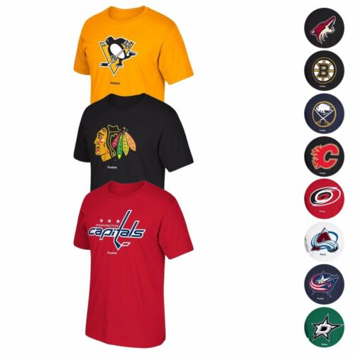 "NHL Reebok ""Jersey Crest"" Team Primary Logo Graphic T-Shirt"