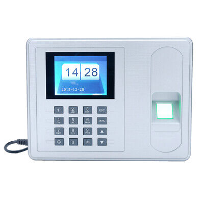 2.4 Tft Employee Fingerprint Recorder Attendance Clock Time Card Machine T0b4