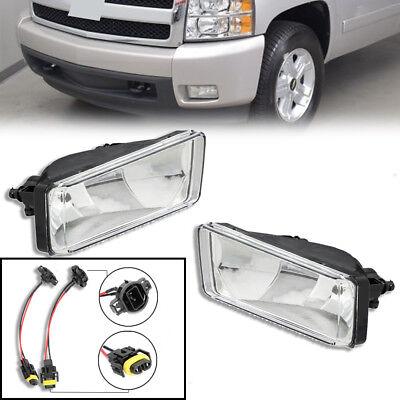 For 2007 Chevy Silverado 1500 2500 HD Clear Bumper Fog Light Lamp Pair Style ()