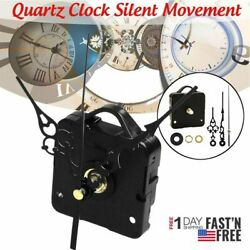 Quartz Clock Movement Mechanism Long Hands Wall Repair Tool Parts Silent Kit US