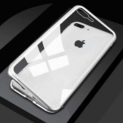 For Apple iPhone Magnetic Slim Shockproof Clear Case 360° Hybrid Cover Bumper