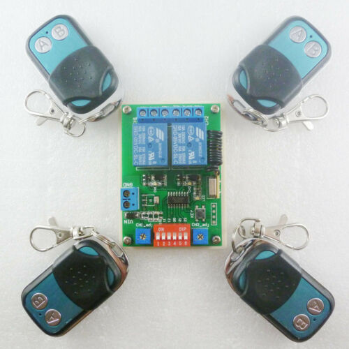 Momentary Latch Toggle Independent Setting DC5V ASK RF Wireless Delay Relay
