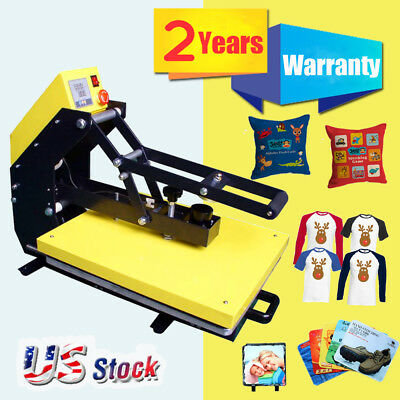 Us Stock-110v 16 X 20 Auto Open T-shirt Heat Press Machine Slide Out Style