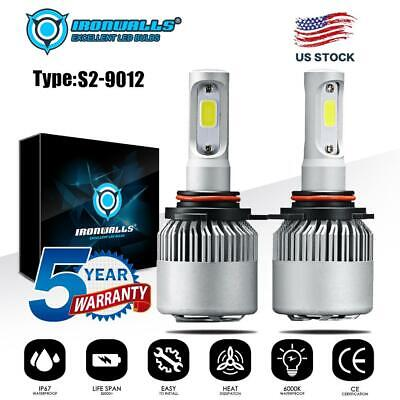 4-Side 9006 HB4 9012 LED Headlight Car Bulbs High//Low Beam Conversion Kit 160W