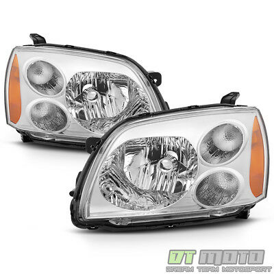 2004-2012 Mitsubishi Galant Chrome Halogen Headlights Headlamps 04-12 Left+Right