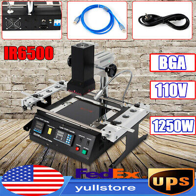Ir6500 Bga Rework Station Soldering System Infrared Reballing Machine 1250w Ce